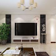 客厅白色背景墙