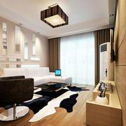单身公寓客厅石膏线吊顶