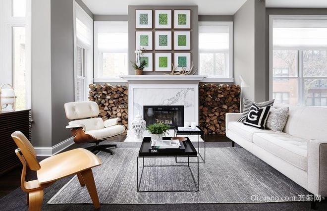 白色唯美客厅装修效果图