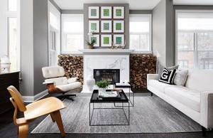 白色美式混搭客厅