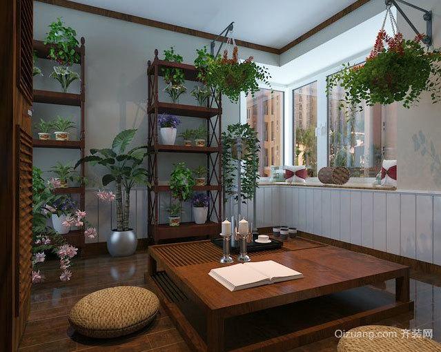 小别墅神秘的东南亚风格阳台装修效果图