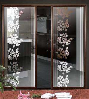 厨房艺术玻璃门装修效果图
