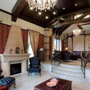 错层式客厅美式装饰