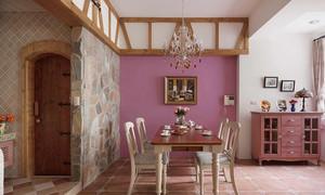 餐厅紫色背景墙