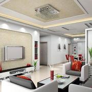温婉客厅背景墙设计