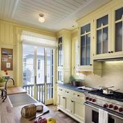 青色小户型厨房吧台