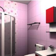 卫生间紫色浪漫