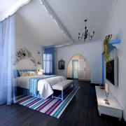 年轻时尚的卧室
