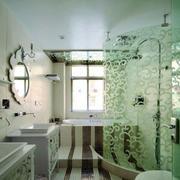 卫生间艺术玻璃门