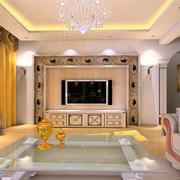 豪华的家居客厅