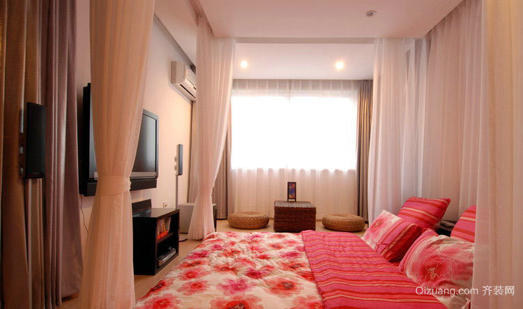 两室一厅韩式甜蜜唯美婚房装修效果图