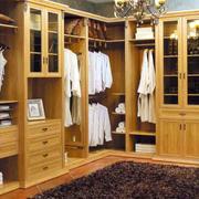 衣帽间实木衣柜