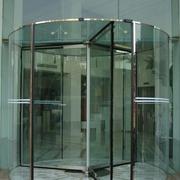 大厅玻璃旋转门