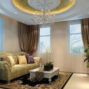 客厅圆形吊顶展示