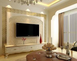 90平米品味高贵的欧式电视背景墙装修效果图鉴赏