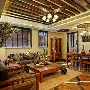 美式自然温馨客厅