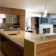 现代简约厨房吧台