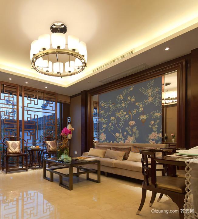 崇尚自然情趣的新中式客厅设计装修效果图鉴赏