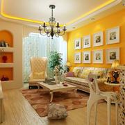 别墅暖色调客厅