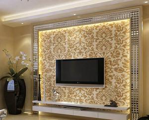 2015大户型现代欧式电视墙壁纸设计效果图鉴赏