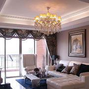 客厅华丽水晶灯