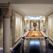 酒店豪华走廊展示