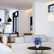 房屋白色简约客厅