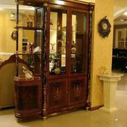 美式红木酒柜