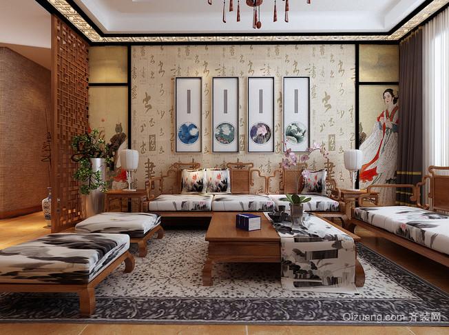 富有东方灵性的中式客厅设计装修效果图鉴赏