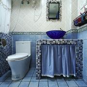 卫生间蓝色地板
