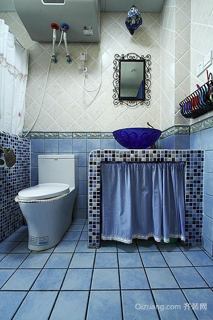 迷人蓝色卫生间装修效果图