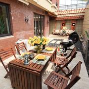 露台餐桌椅展示