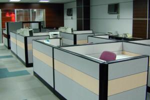 现代化的办公桌展示