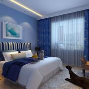 蓝色忧郁范儿卧室