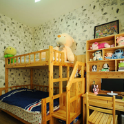 儿童房实木双层床