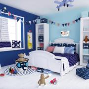 小户型蓝色儿童房装饰
