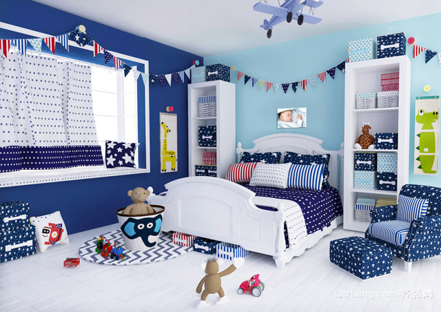 混搭风格童趣小户型儿童房装修设计效果图