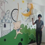 儿童房生动的墙面彩绘
