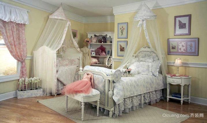 活泼可爱的欧式双儿童房装修效果图