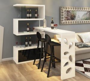 现代都市风格家居吧台酒柜装修设计效果图