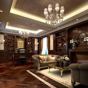 别墅豪华的书房