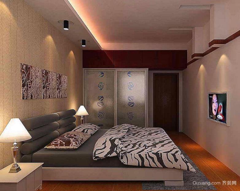 2015时尚大方的现代都市卧室壁纸装修效果图