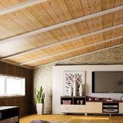 阁楼自然木吊顶