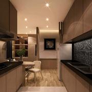 厨房咖啡色橱柜欣赏