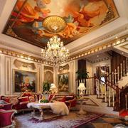 客厅吊顶艺术画欣赏