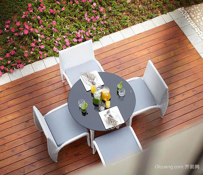 有声有色的简欧风格露台花园设计图片鉴赏