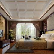 大户型卧室石膏线吊顶