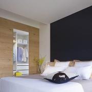 卧室黑色背景墙