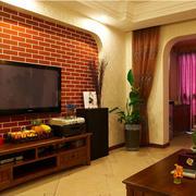 客厅格子状的电视墙