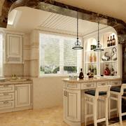 欧式风格的厨房吧台